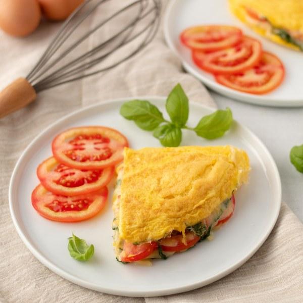 Mozzarella, Tomato & Basil Omelet