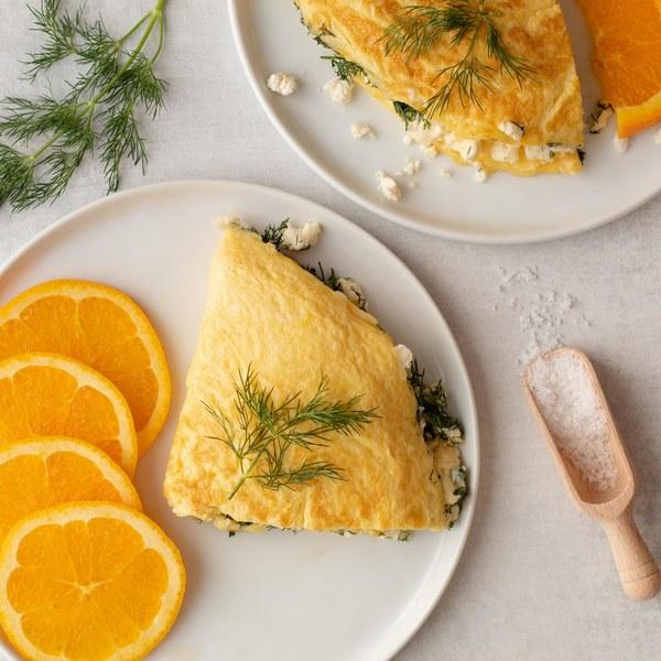 Sunrise Omelet with Feta & Dill
