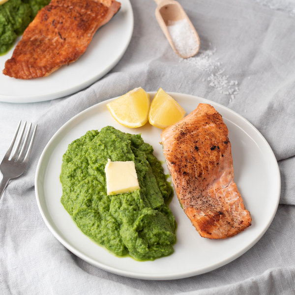Pan-Fried Salmon with Cauliflower & Spinach Power Mash
