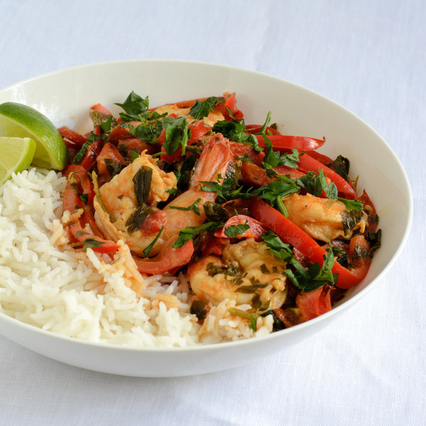 Thai Coconut Shrimp Curry with Basmati Rice