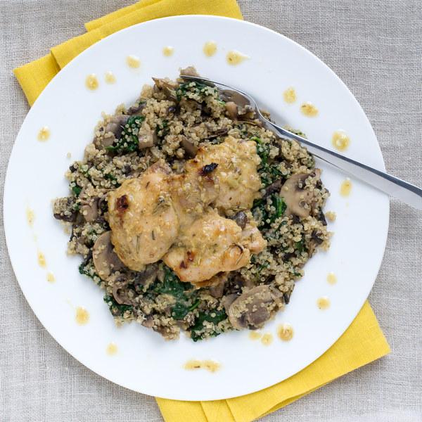 Maple Dijon Chicken with Mushroom & Quinoa Risotto