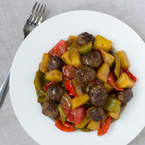 Sweet & Sour Meatballs with Pineapple & Bell Pepper