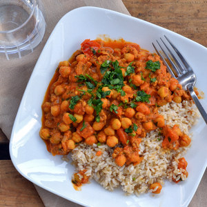 Ground Turkey & Chickpea Curry with Basmati Rice