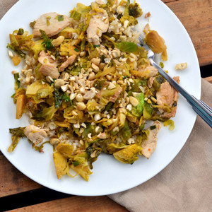 Asian Chicken & Brussels Sprouts Stir Fry with Basmati Rice