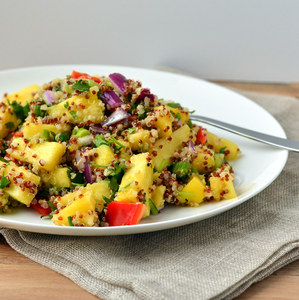 Tropical Fruit & Quinoa Salad with Honey-Lime Dressing