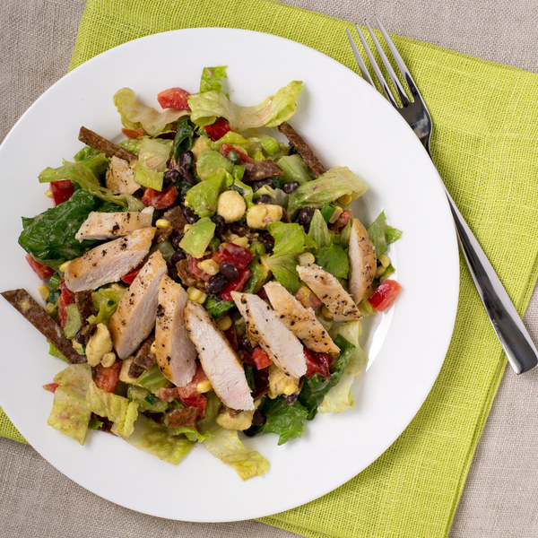 Southwest Chicken Salad with Creamy Yogurt Dressing
