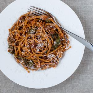 Creamy Sundried Tomato & Spinach Linguine Pasta