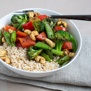 Vegetable & Cashew Stir Fry with Basmati Rice