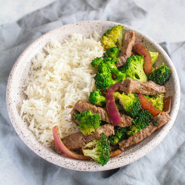 Beef & Broccoli Stir Fry with Basmati Rice