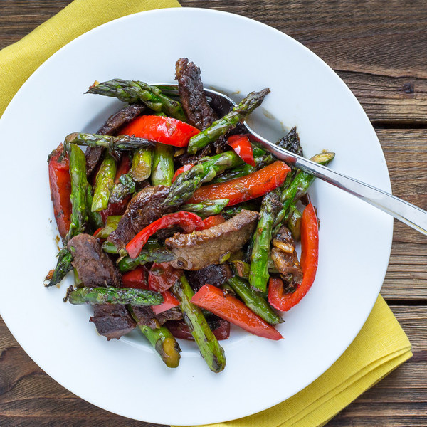 Steak, Asparagus & Bell Pepper Stir Fry