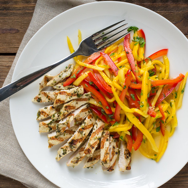 Cilantro-Lime Grilled Chicken with Thai Mango Salad