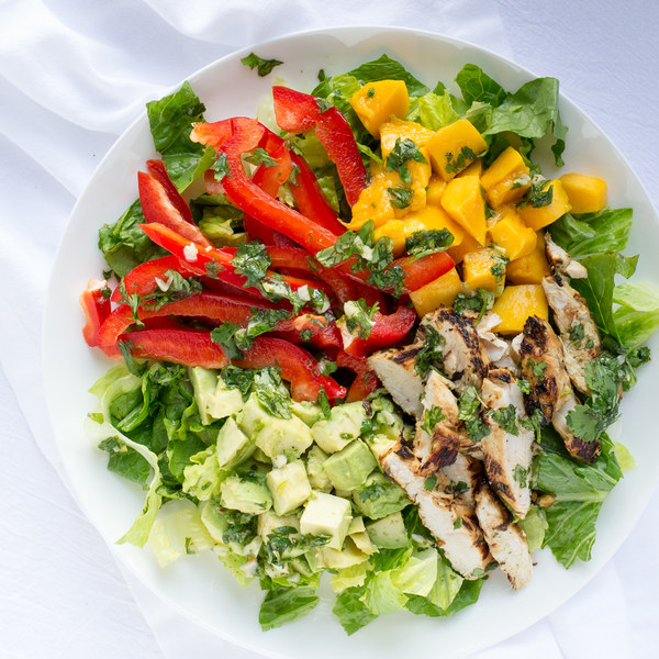 Cilantro Lime Chicken Salad with Mango, Avocado & Bell Pepper