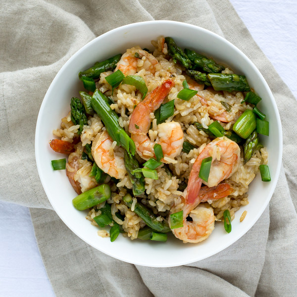 Shrimp & Asparagus Fried Rice