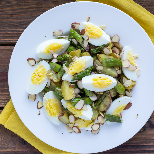 New Potato, Asparagus & Egg Salad with Lemon-Mustard Vinaigrette