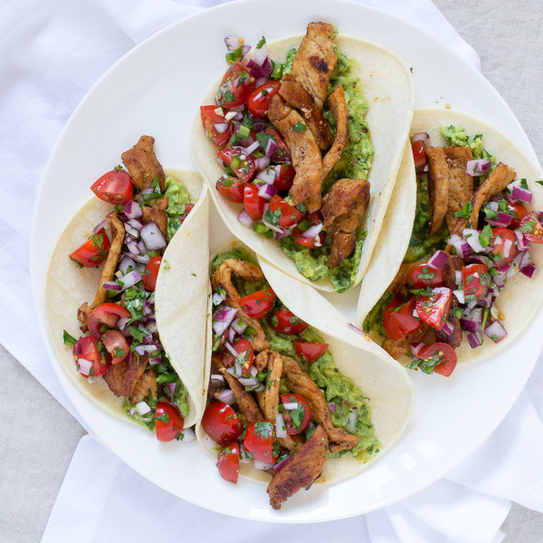 Pork Tacos with Pico de Gallo & Guacamole