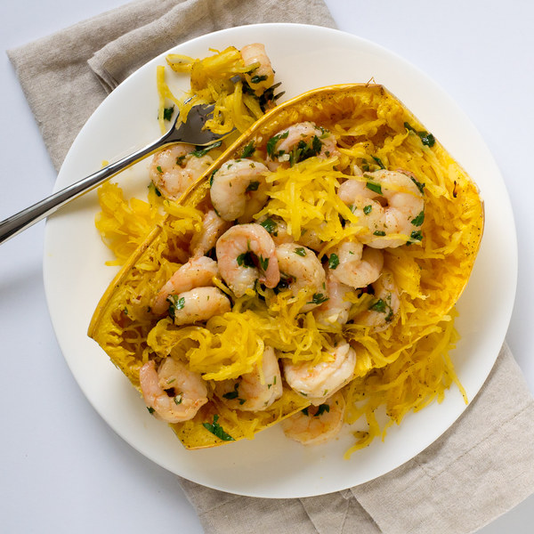 Shrimp Scampi with Spaghetti Squash
