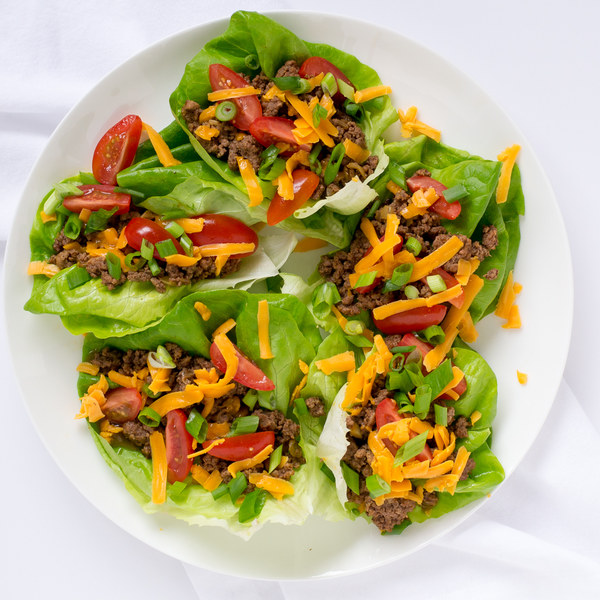 Taco Lettuce Wraps with Cheddar