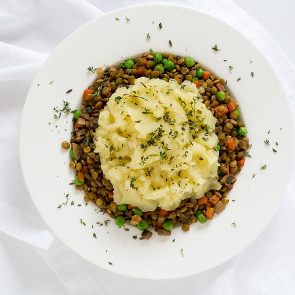 Vegetarian Shepherd's Pie with Lentils, Mushrooms & Carrots