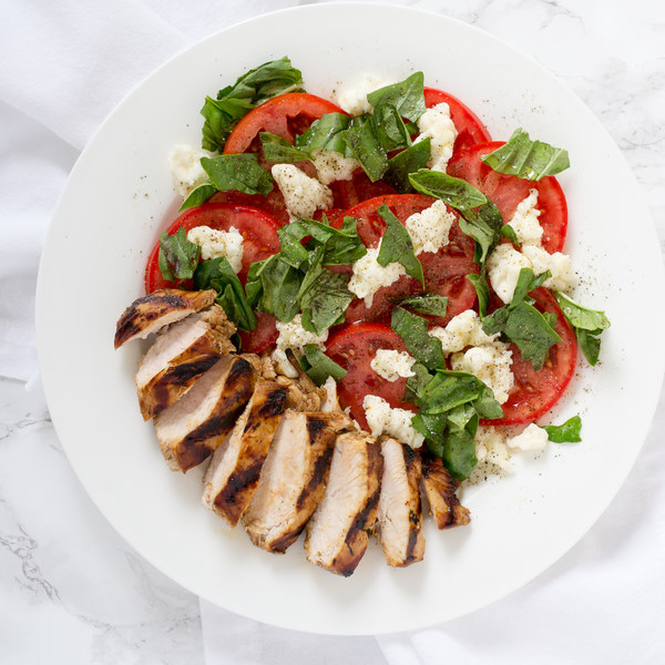 Balsamic Grilled Chicken with Classic Caprese Salad