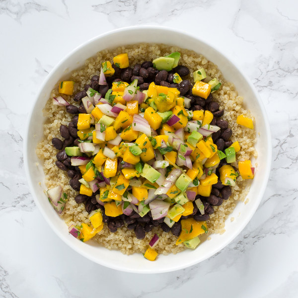 Mango-Avocado Quinoa Bowl with Black Beans
