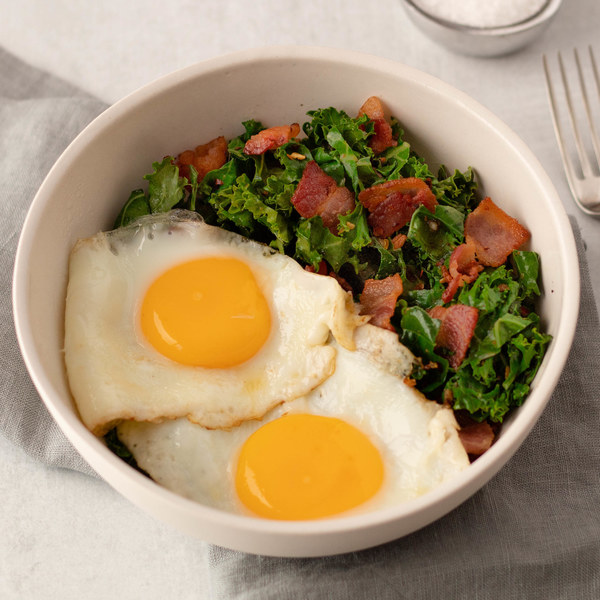 Bacon & Egg Bowl with Wilted Kale