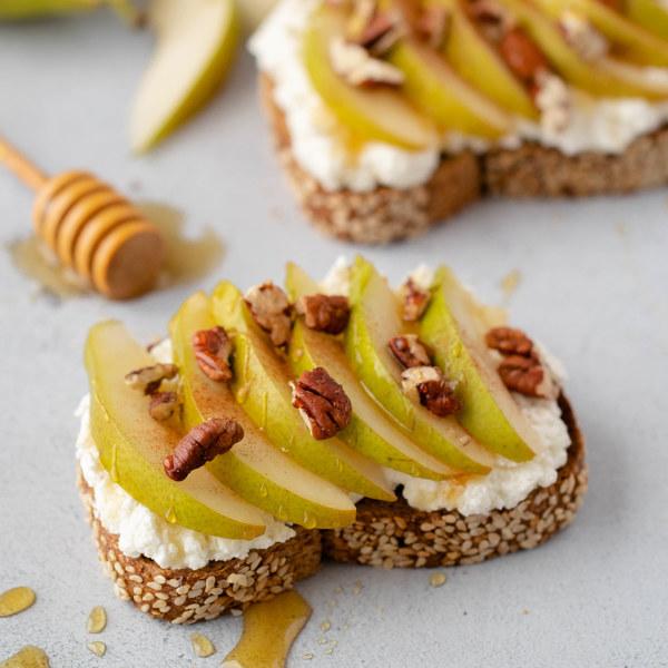 Pear & Pecan Ricotta Toast