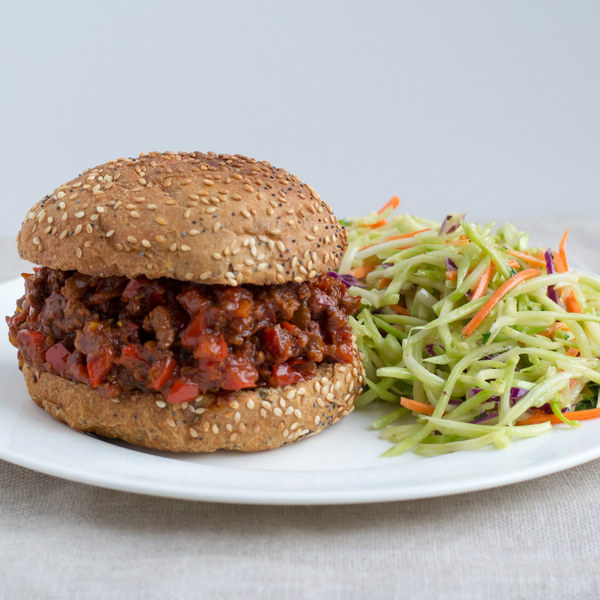 Classic Sloppy Joes with Zesty Broccoli Slaw