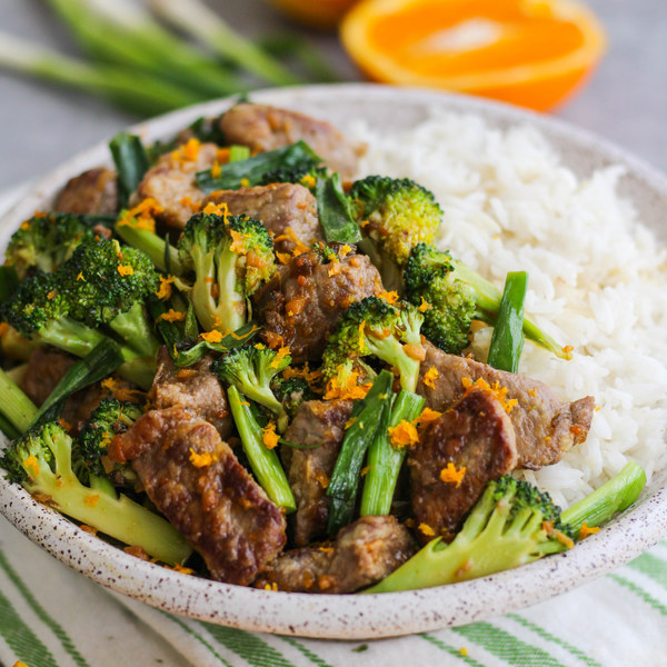 Spicy Orange Beef & Broccoli Stir-Fry