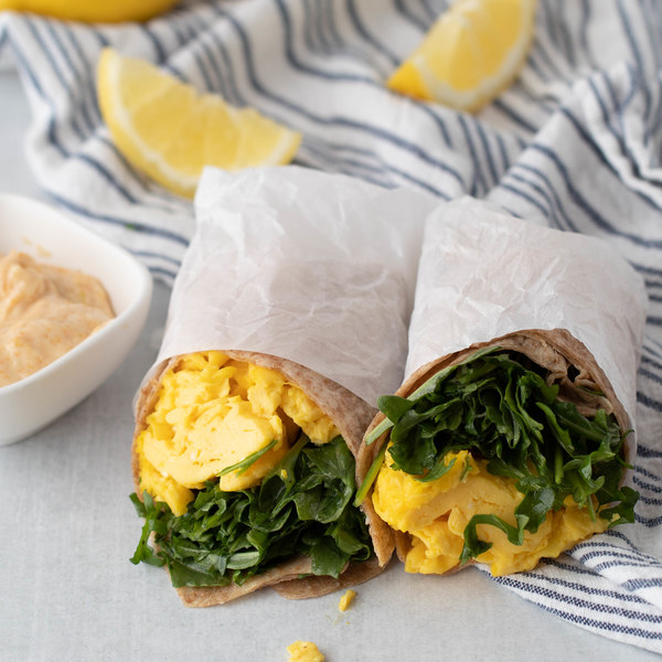 Lemony Arugula & Egg Wrap with Zesty Aioli