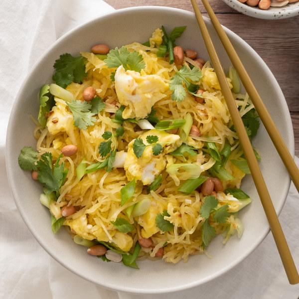 "Spaghetti Squash ""Pad Thai"" with Egg"