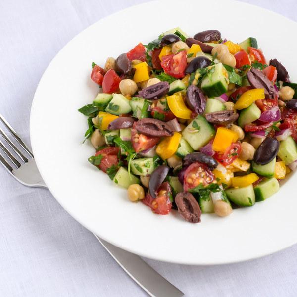 Mediterranean Chickpea Salad with Lemon Vinaigrette