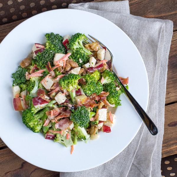 Broccoli, Apple & Bacon Salad with Walnuts
