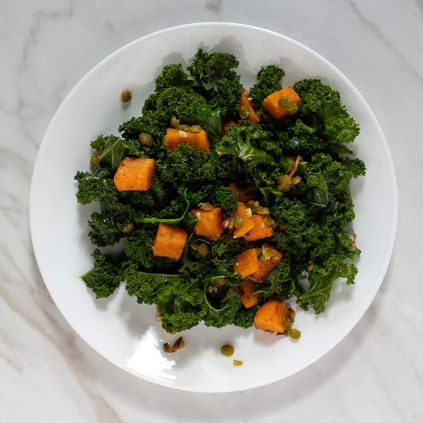 Lentil, Sweet Potato & Kale Salad